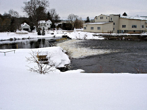 The hatchery under a blanket of snow